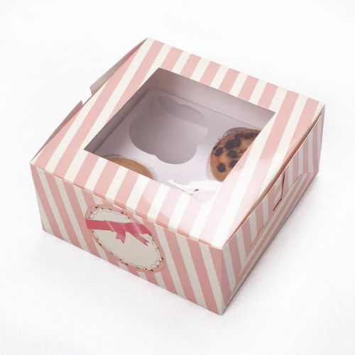 Sweet Hours Cup Cake Box For 4 Cakes 2's